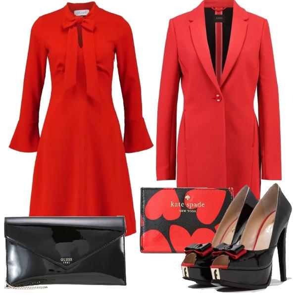 Outfit Rosso e nero per festeggiare