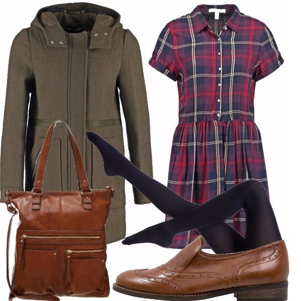 Outfit Tartan college