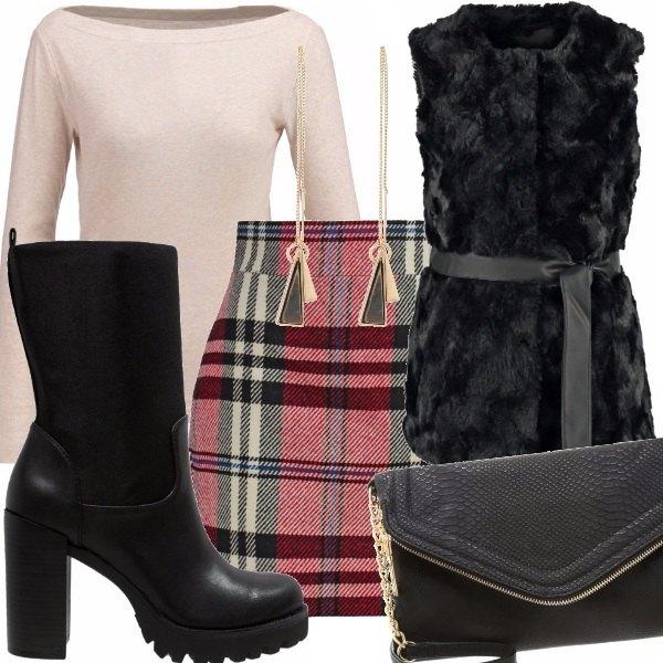 Outfit Tartan bear