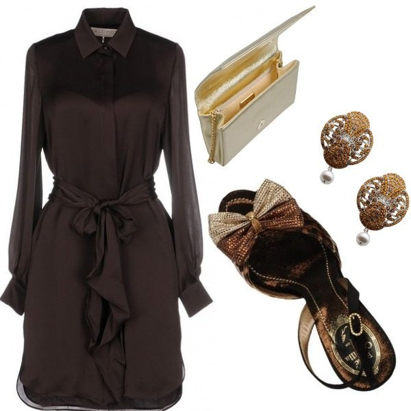 Outfit Sexy brown