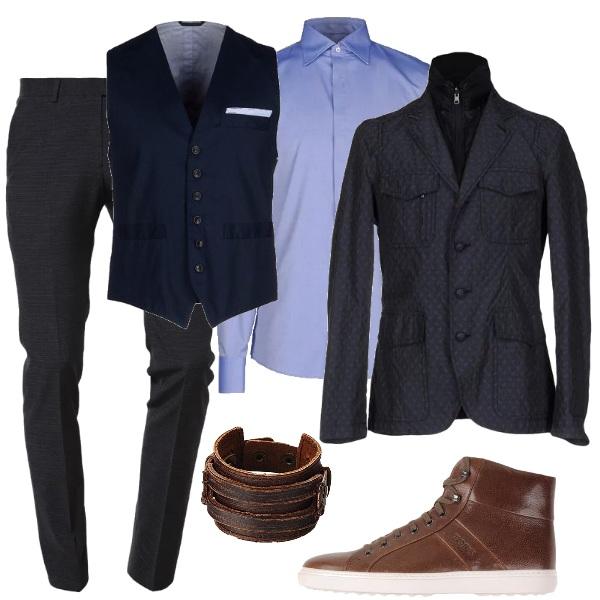 in ufficio con le sneakers outfit uomo business elegante