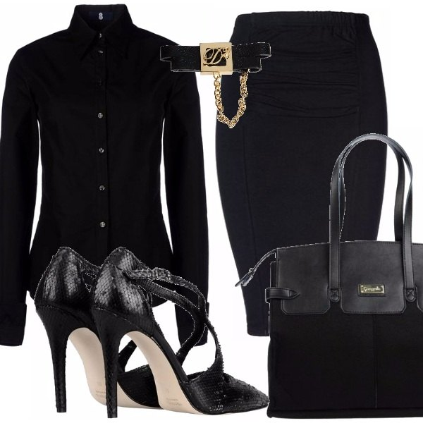 Outfit Sexy in black e..low cost