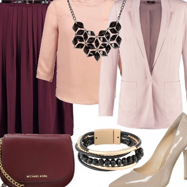 Outfit Marsala of night