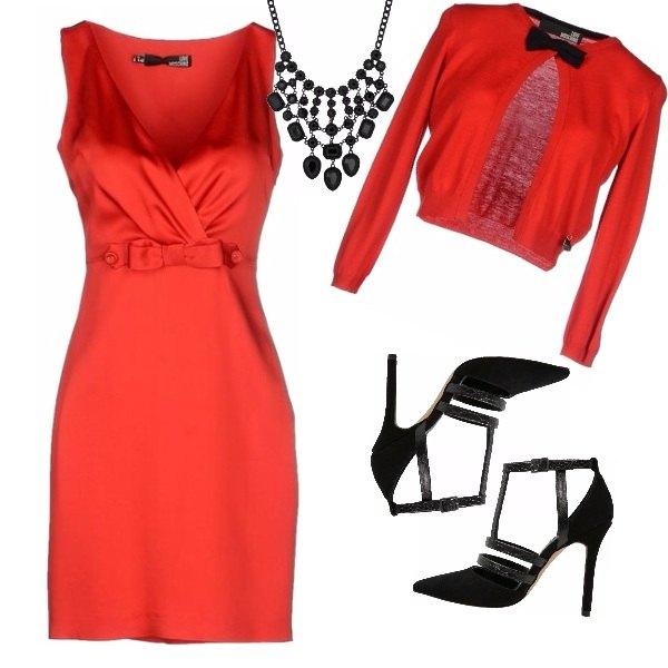 Outfit E' gradito l'abito rosso