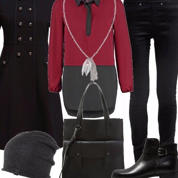 Outfit Rosso e nero.