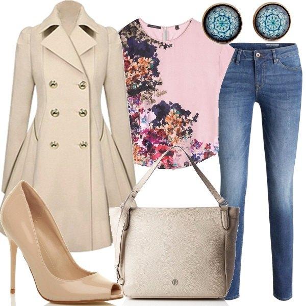 Primavera in trench outfit donna basic per ufficio e for Outfit ufficio 2018