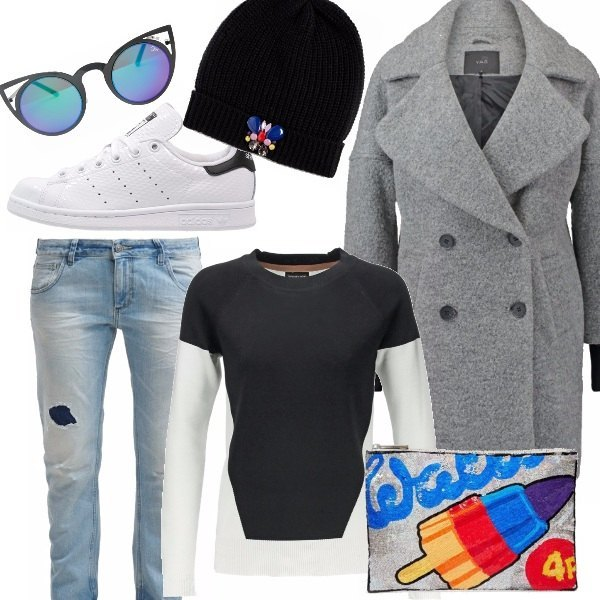 Outfit Street style caban