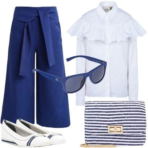 Bianco e blu outfit donna trendy per ufficio e tutti i for Ufficio bianco e blu