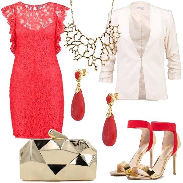 abbinamento con rosso corallo Outfit-passione-corallo