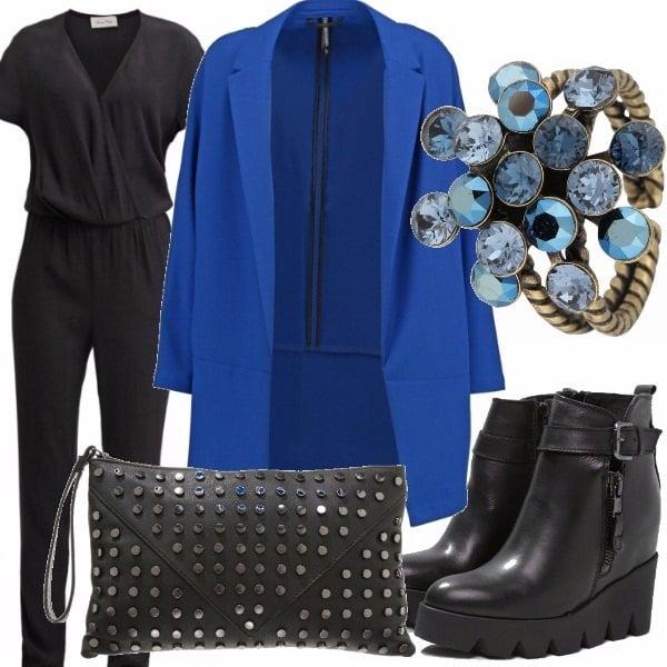Outfit Un tocco blu elettrico