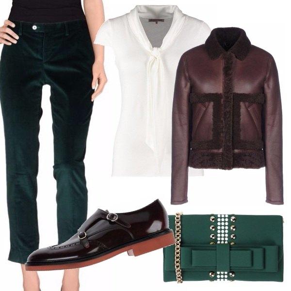 Outfit Verde viola