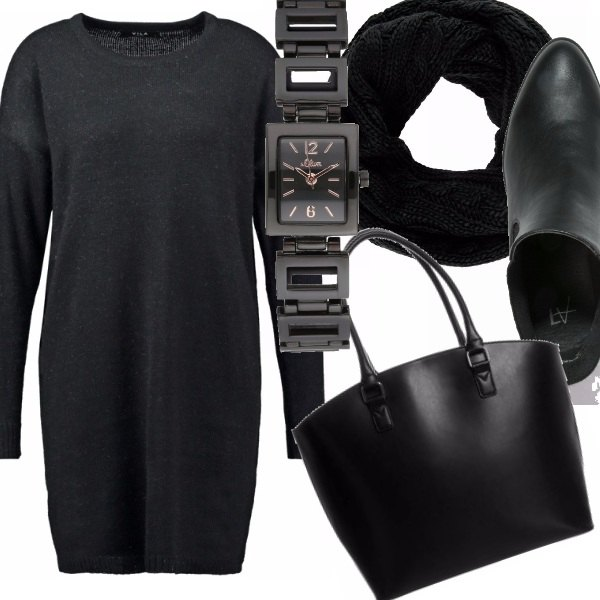 Outfit Minimal in black - look in low