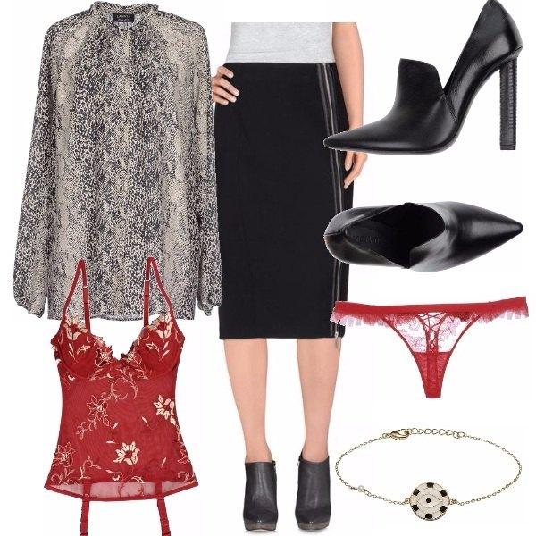 Outfit Rigore e sensualità