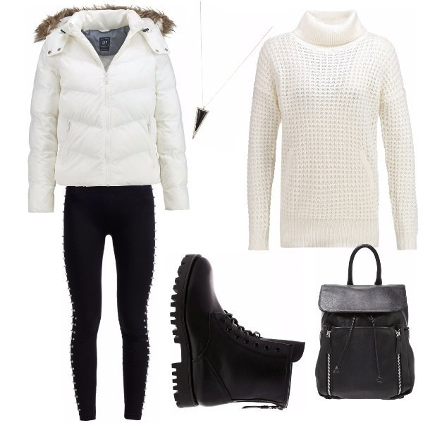 Outfit Bianco in rock