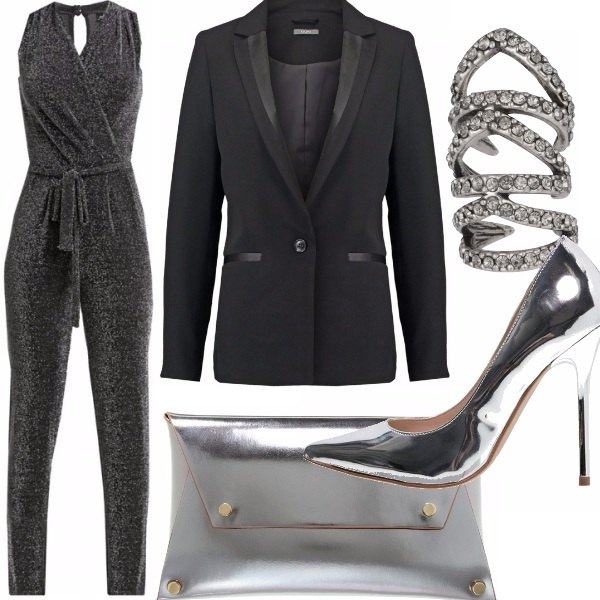 Outfit Silver & black