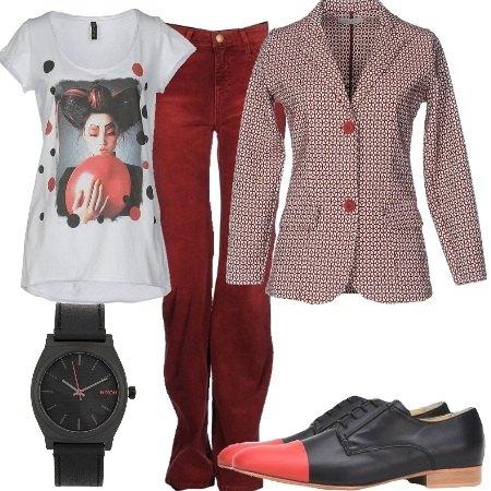 Outfit Microfantasia sulla giacca
