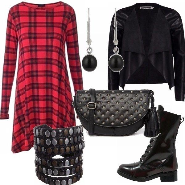 Outfit Rock tartan
