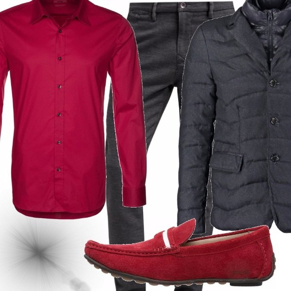 Outfit Red and grey