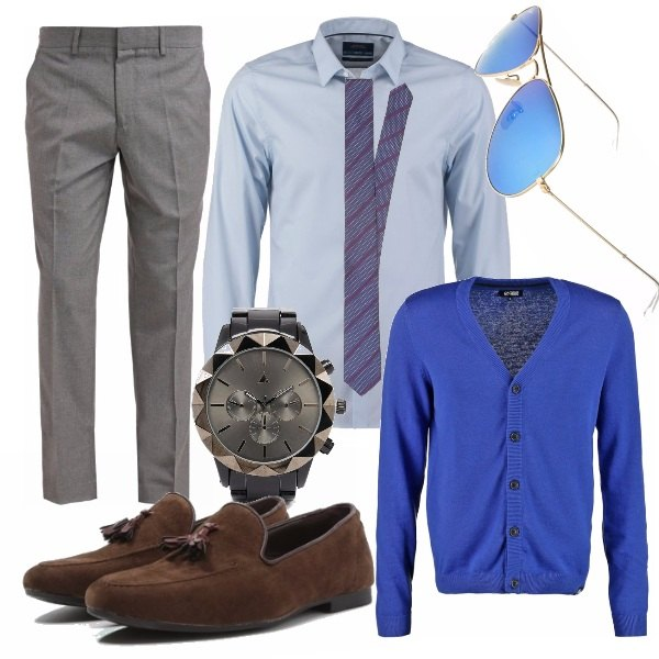 Outfit Electric blue for man