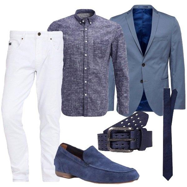Festa in bianco e blu outfit uomo business elegante per for Ufficio bianco e blu