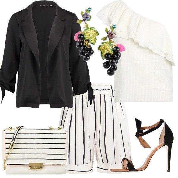 Outfit Righe verticali e orizzontali