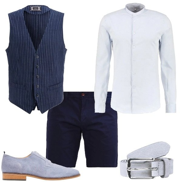 Outfit Matrimonio Uomo Gilet : Il gilet in pantaloncini outfit uomo casual per tutti i