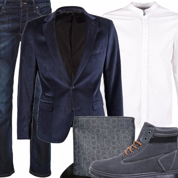 Outfit In giacca e jeans.