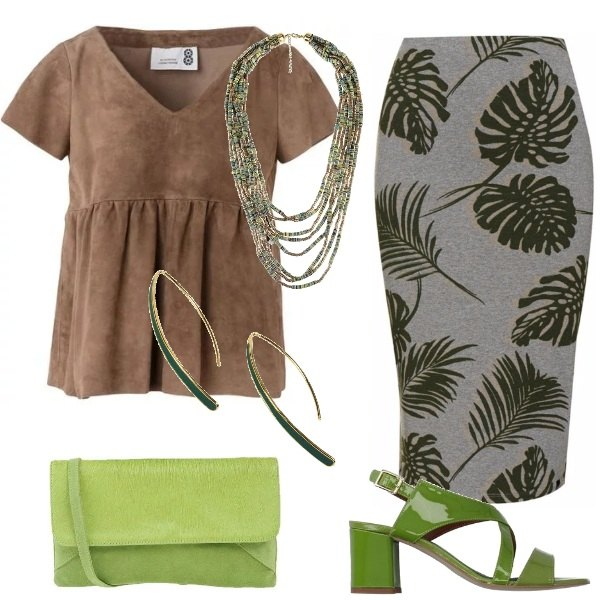 Outfit Verde alla moda
