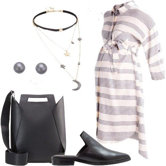 Outfit Una futura mamma al lavoro