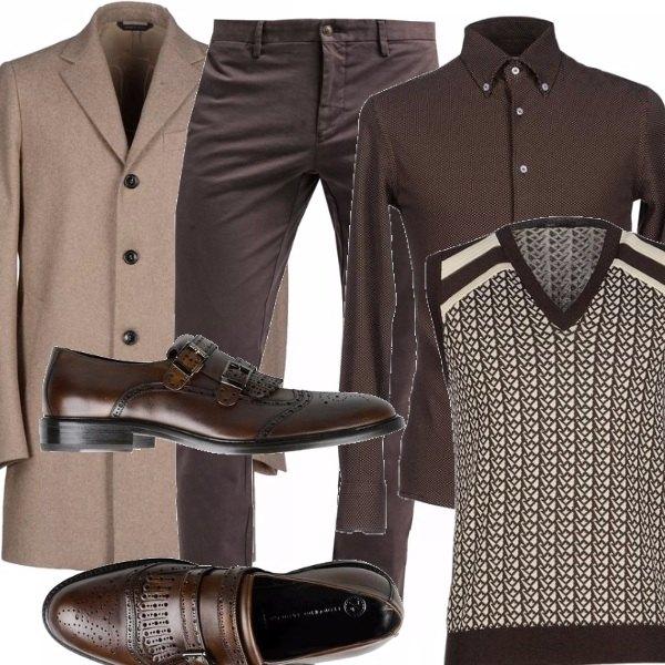Outfit Vintage in brown