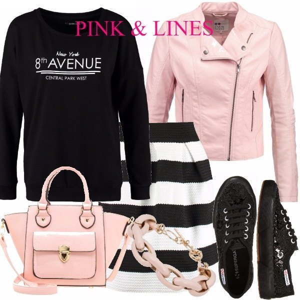 Outfit PINK & LINES