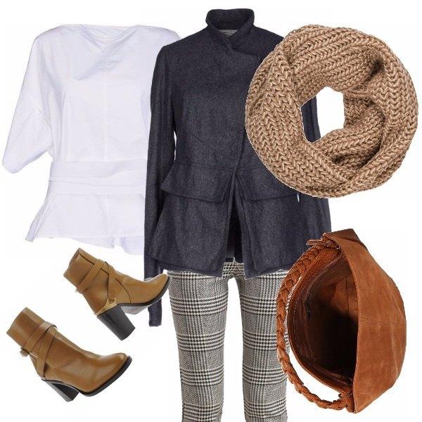 Outfit Cuoio e grigio