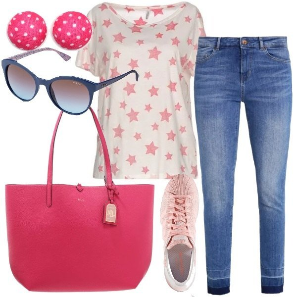 Outfit Stelle e pois