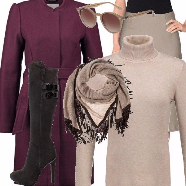 Outfit L'eleganza del colore neutro