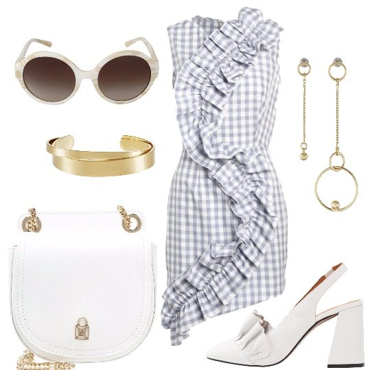 Outfit Bianco ed azzurro