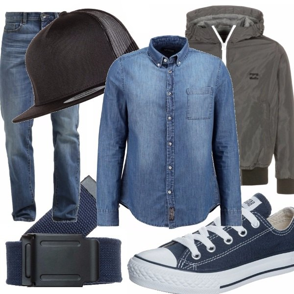 Outfit Jeans e All Star