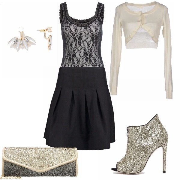 Outfit Glitter e pizzo