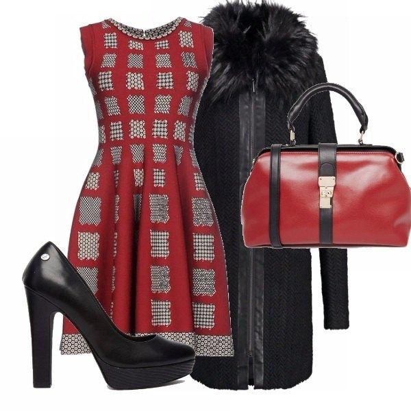 Rosso natale!: outfit donna Elegante per serata elegante ...