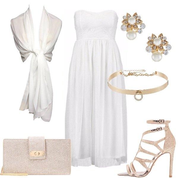 Outfit L'abito bianco elegante
