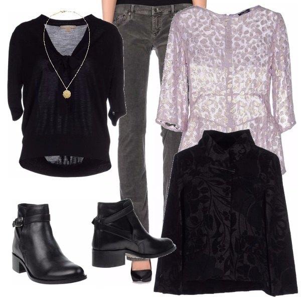 Outfit Broccato, voile e velluto..