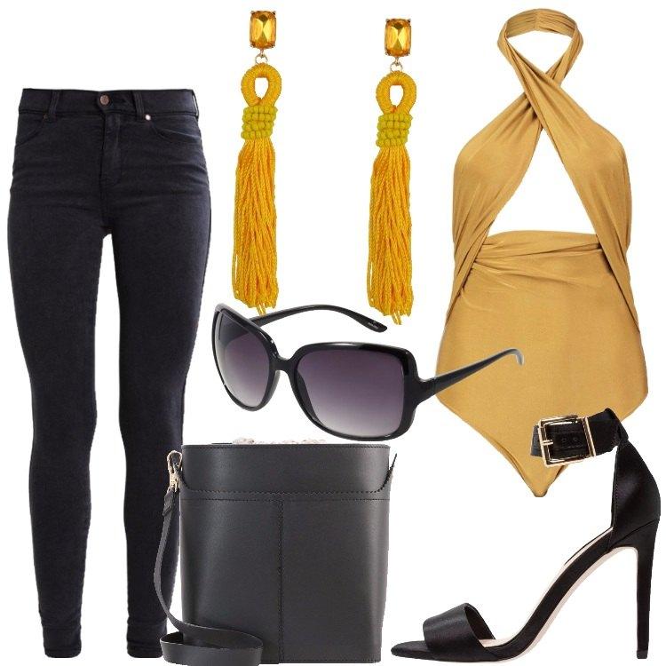 Outfit Oro nero