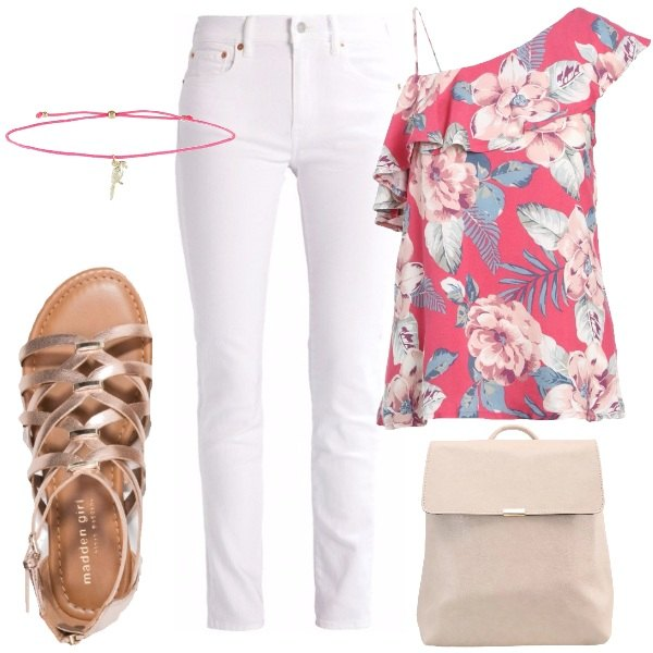 Outfit Camicetta monospalla