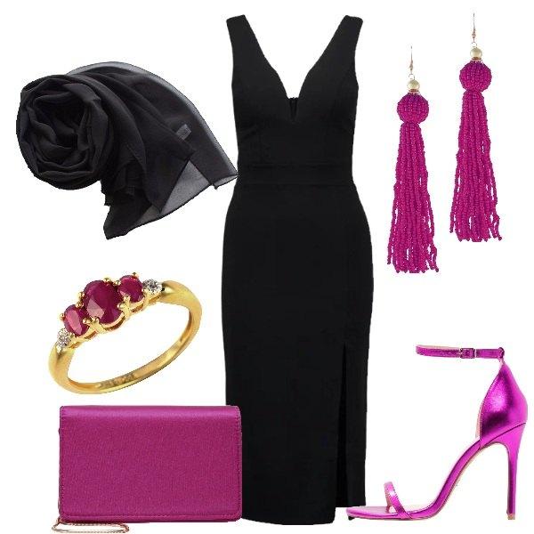 Outfit Fucsia sul nero