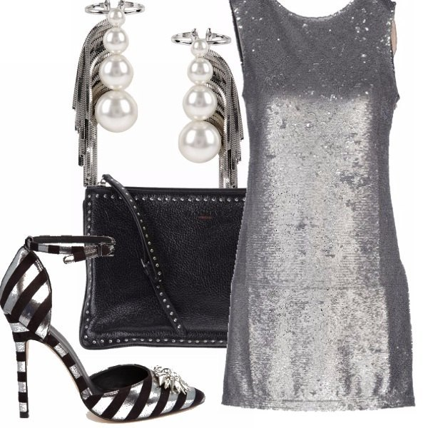 Outfit Silver night in disco!
