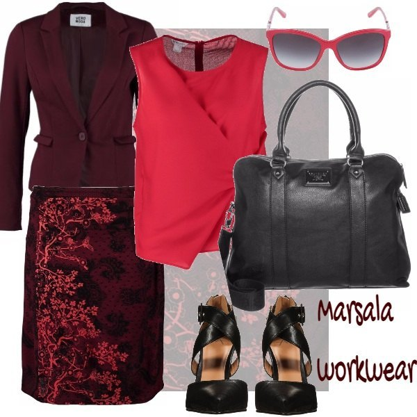 Outfit Marsala workwear