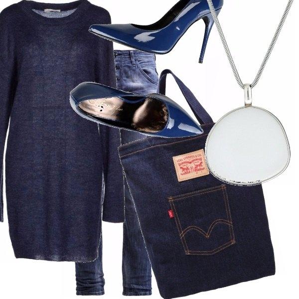 Outfit Denim e tacco