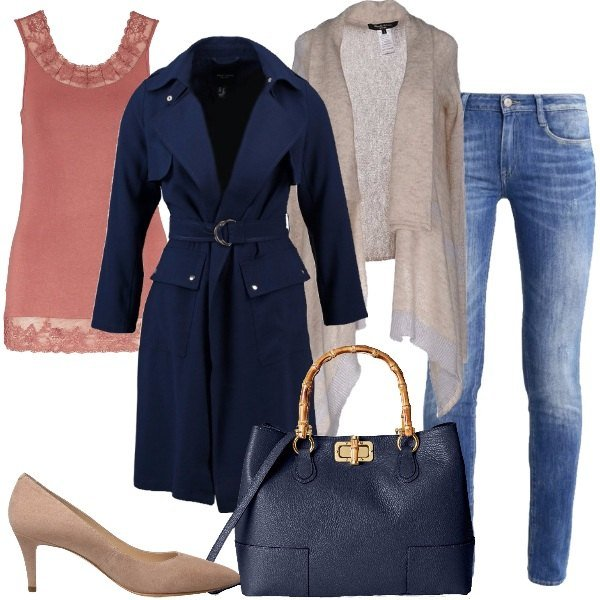 Outfit Il trench blu