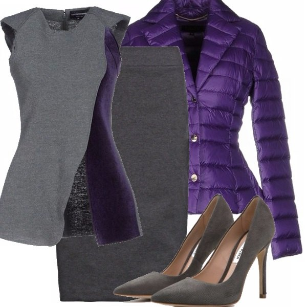 Outfit Grigio&viola