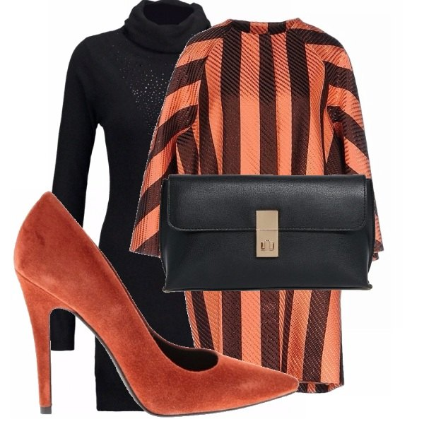 Outfit Orange&black