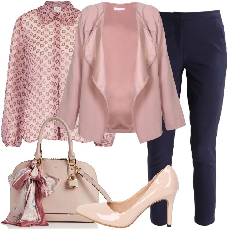 Outfit Rosa in ufficio e di sera